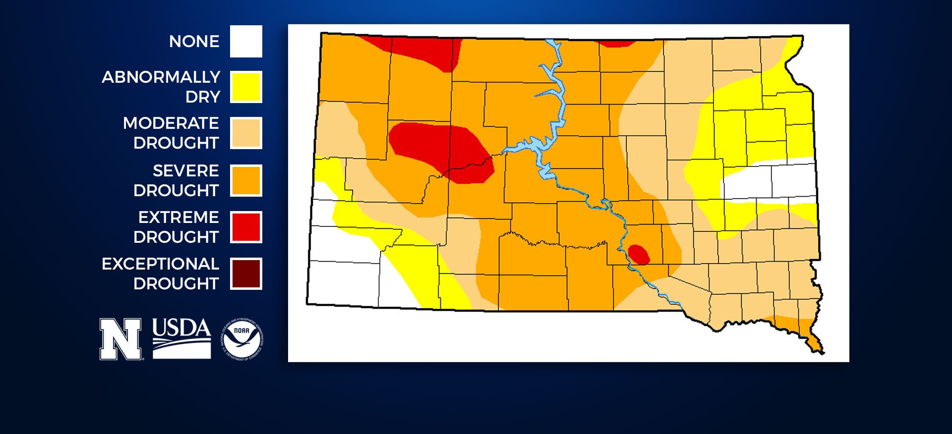 South Dakota Drought Monitor - August 10