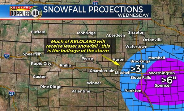snowfall projections