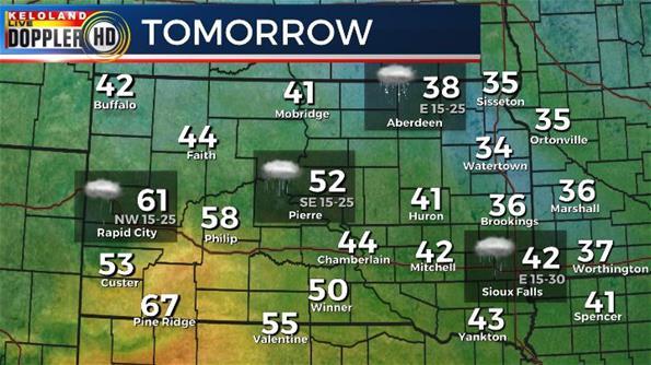 South Dakota weather forecast Friday