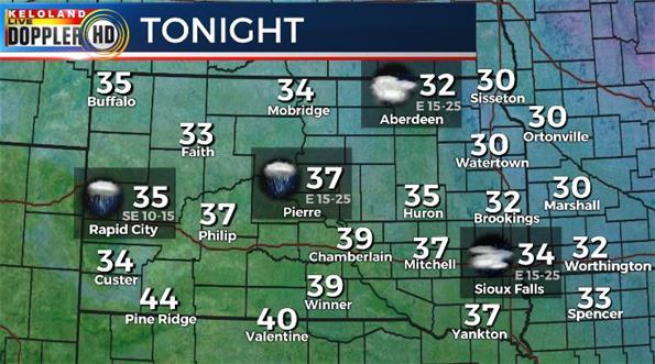 South Dakota weather forecast Thursday