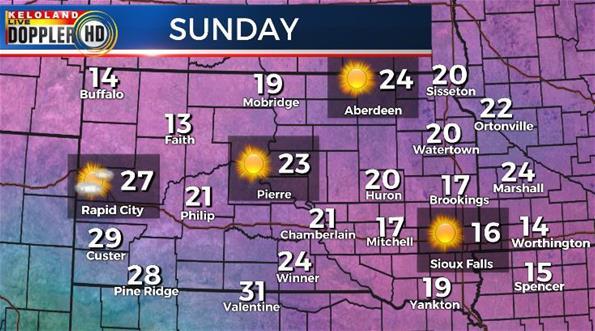 South Dakota weather Sunday forecast
