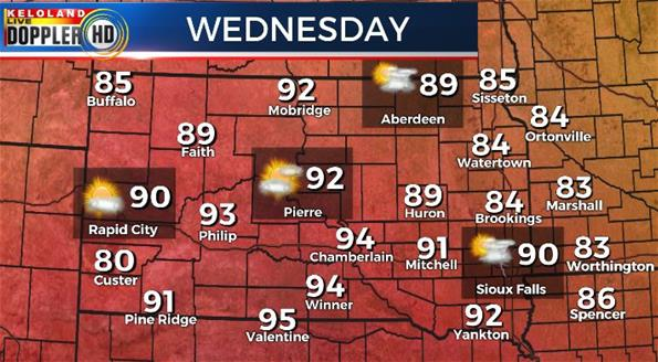 South Dakota Wednesday weather forecast