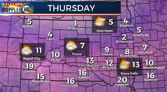 Thursday South Dakota weather forecast