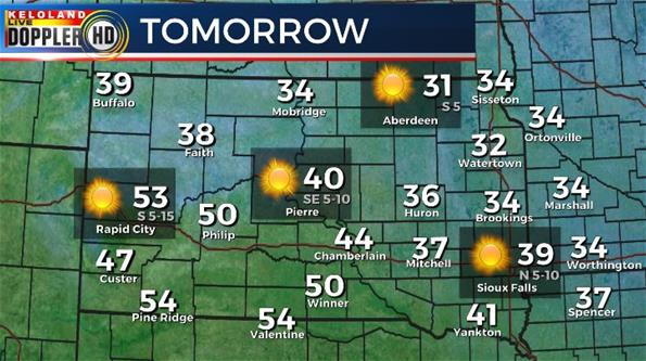 Tuesday South Dakota weather forecast