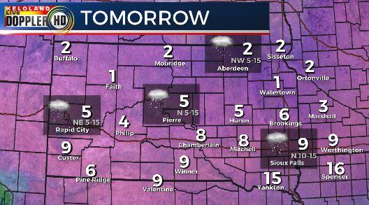 Wednesday South Dakota weather forecast