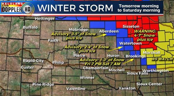 Winter storm South Dakota forecast