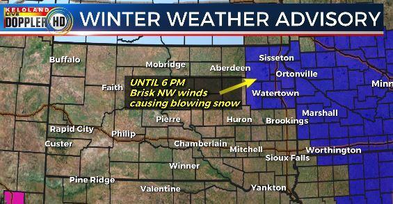 Winter weather advisory South Dakota