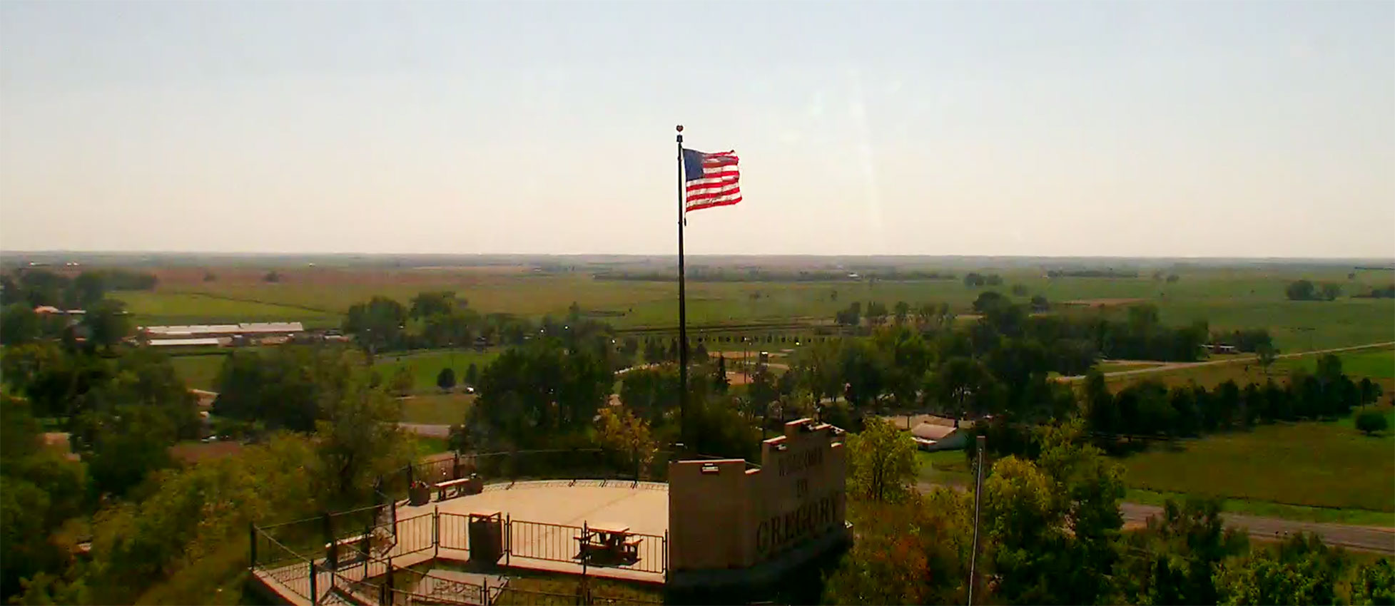 Gregory South Dakota skycam warm summer day September